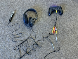 The end product connected to the PS4 controller